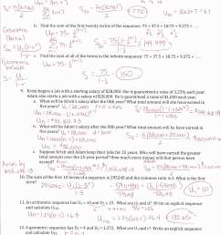 Arithmetic Sequences Worksheet Answers   Printable Worksheets and  Activities for Teachers [ 3300 x 2550 Pixel ]