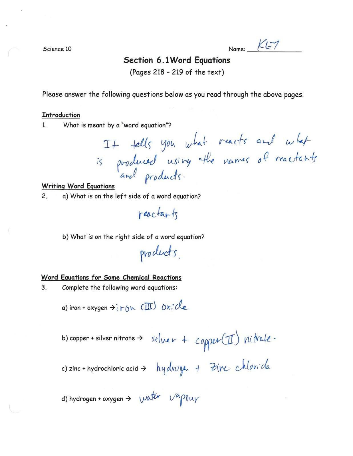 Balancing Nuclear Reactions Worksheet
