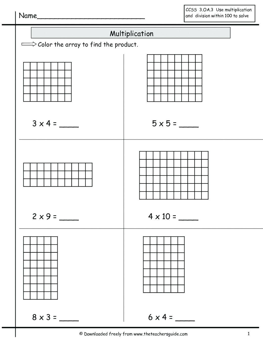 Box Method Multiplication Math Multiplication Box Grid