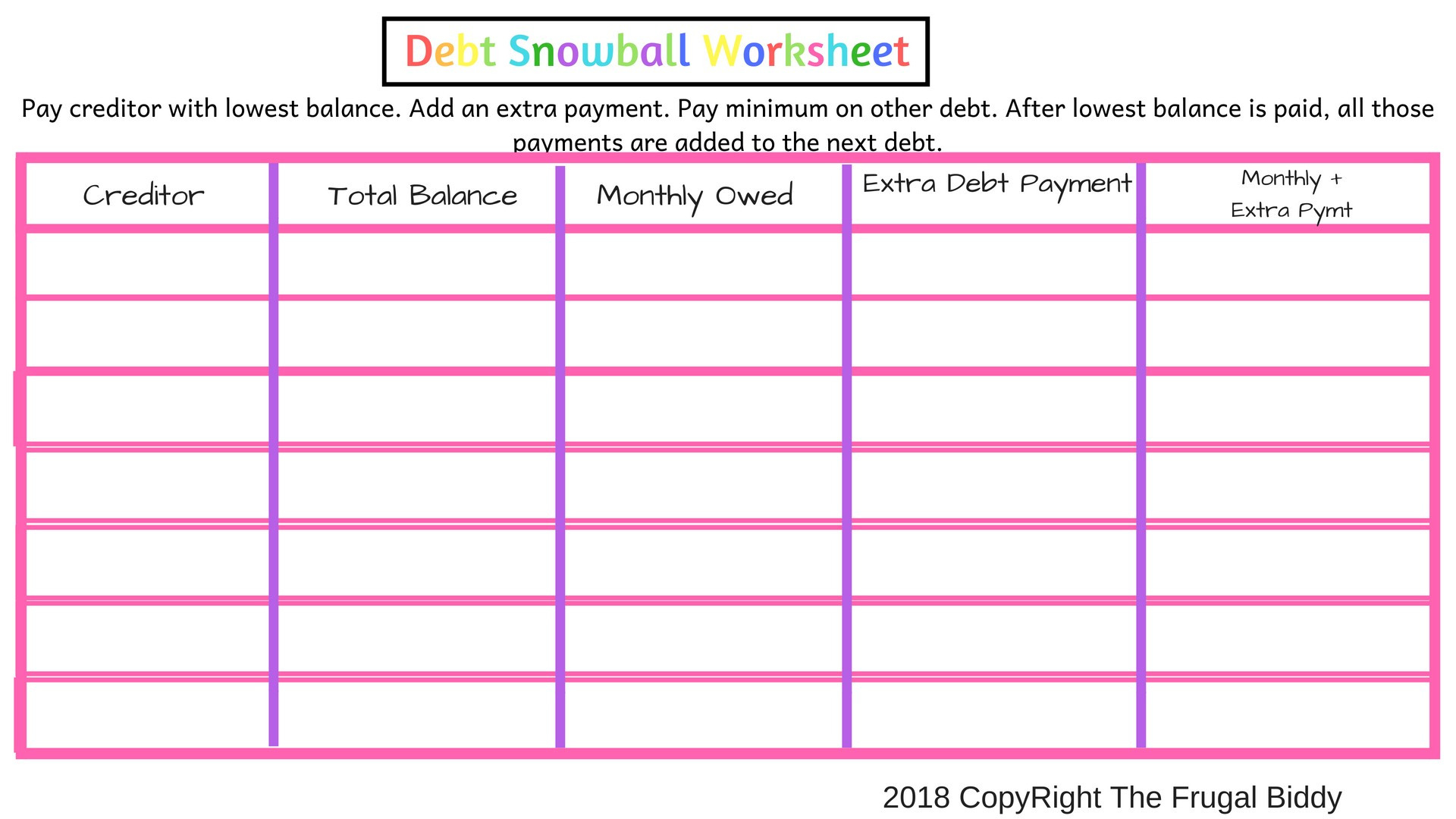 Budget Worksheet To Get Out Of Debt Spreadsheet Or S