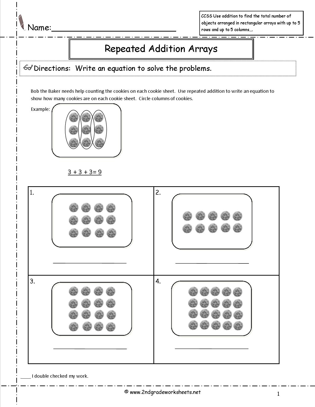 Equal Groups Worksheets
