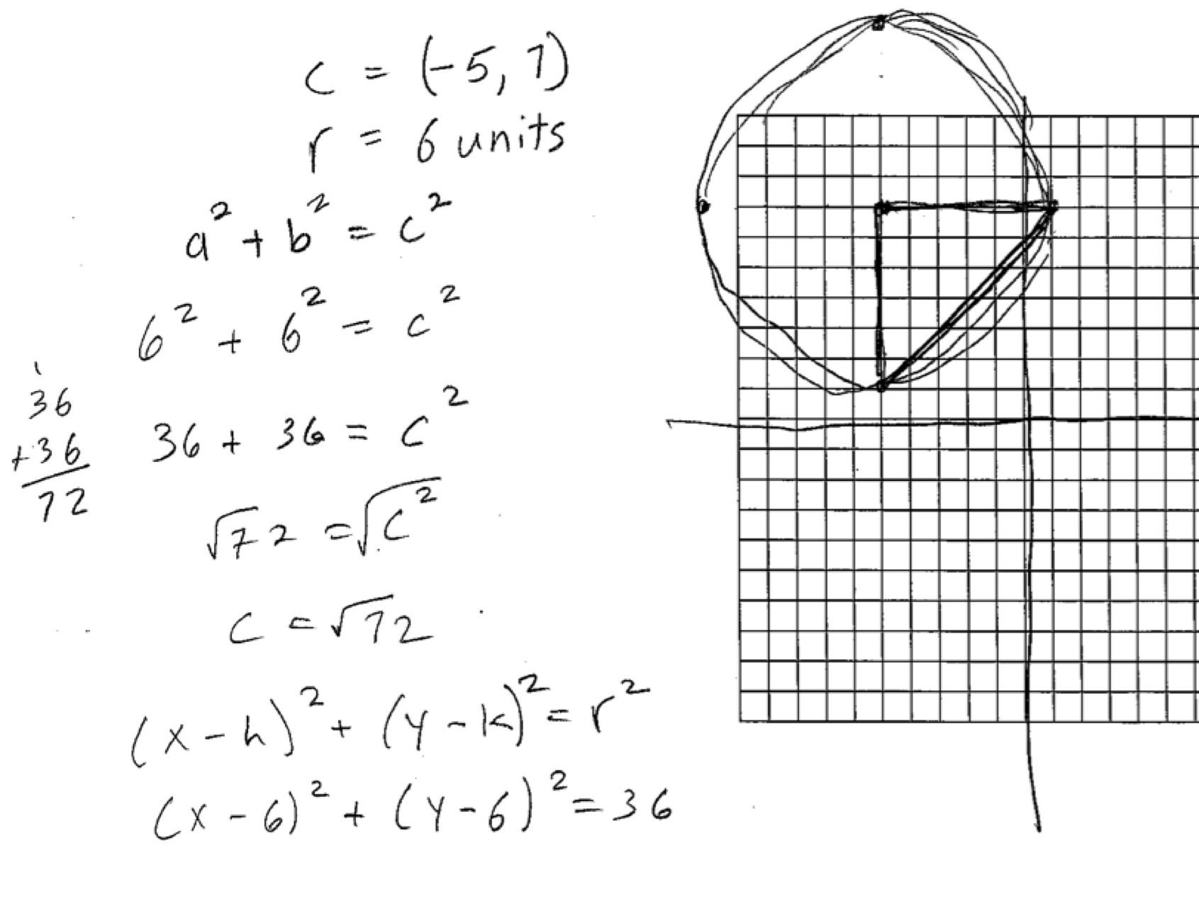 Circles Worksheet Find The Center And Radius Of Each