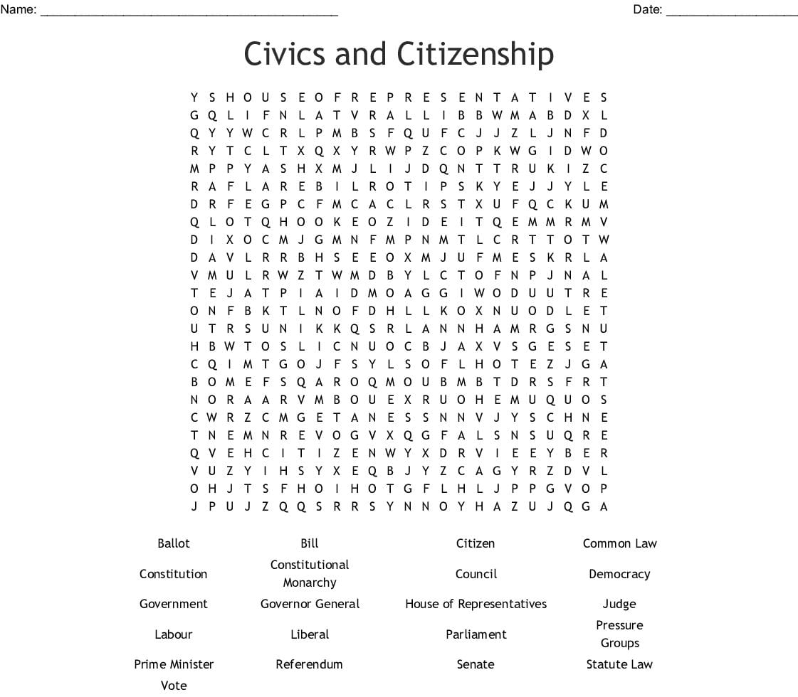 Citizenship And The Constitution Worksheet Answers