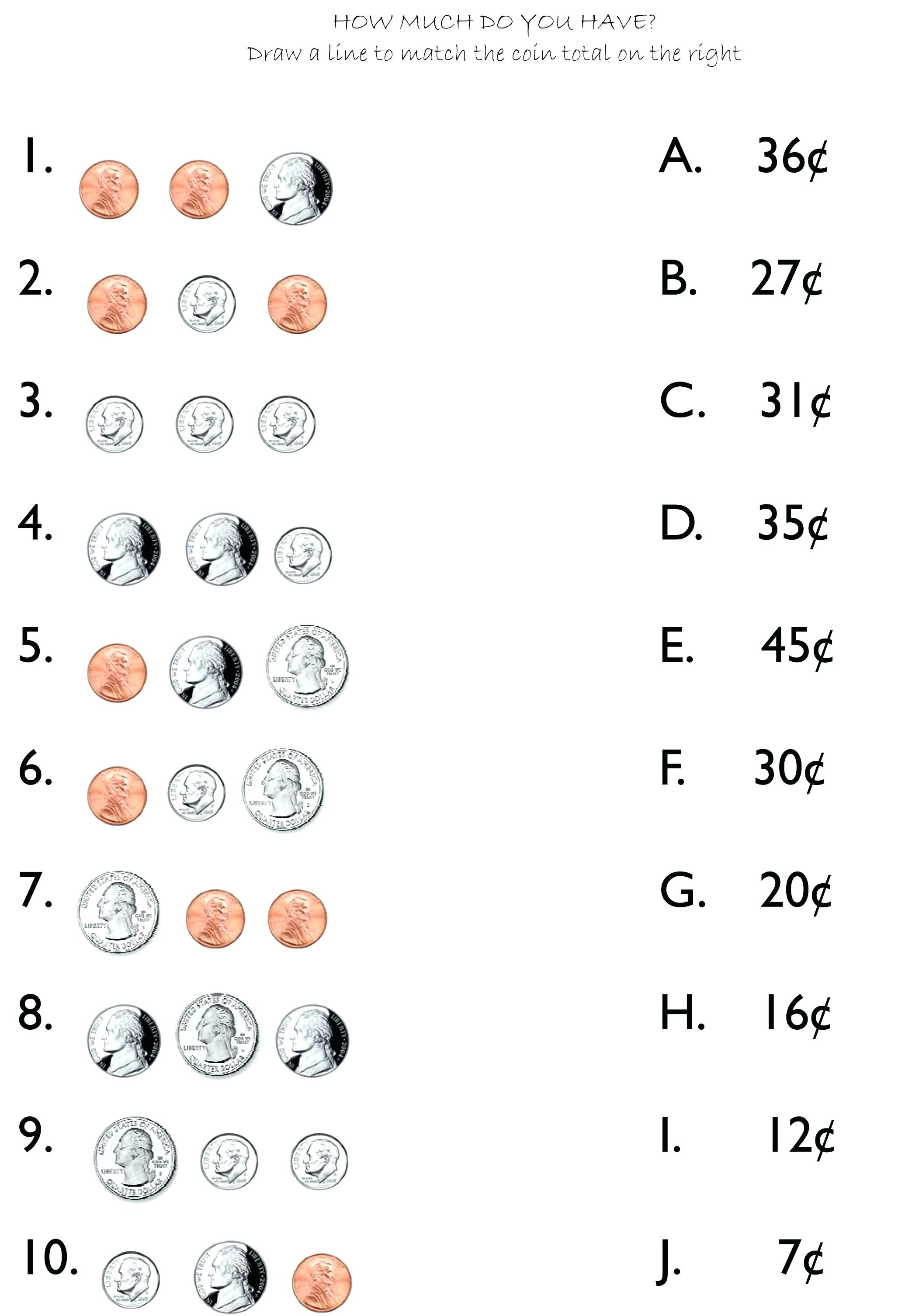 Coin Practice Worksheets Oneupcolorco