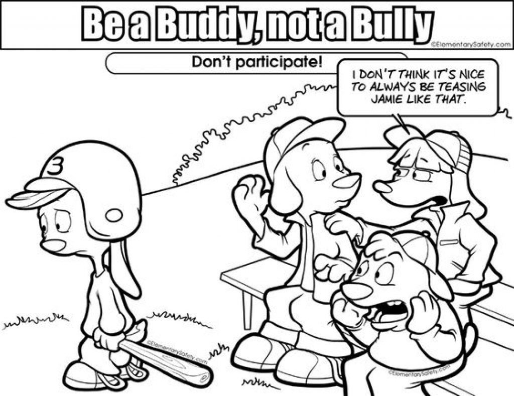 Coloring Pages Anti Bullying Coloring Pages 1024X789 In