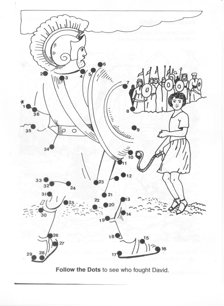 Coloring Preschool Coloring Pages David And Goliath Best
