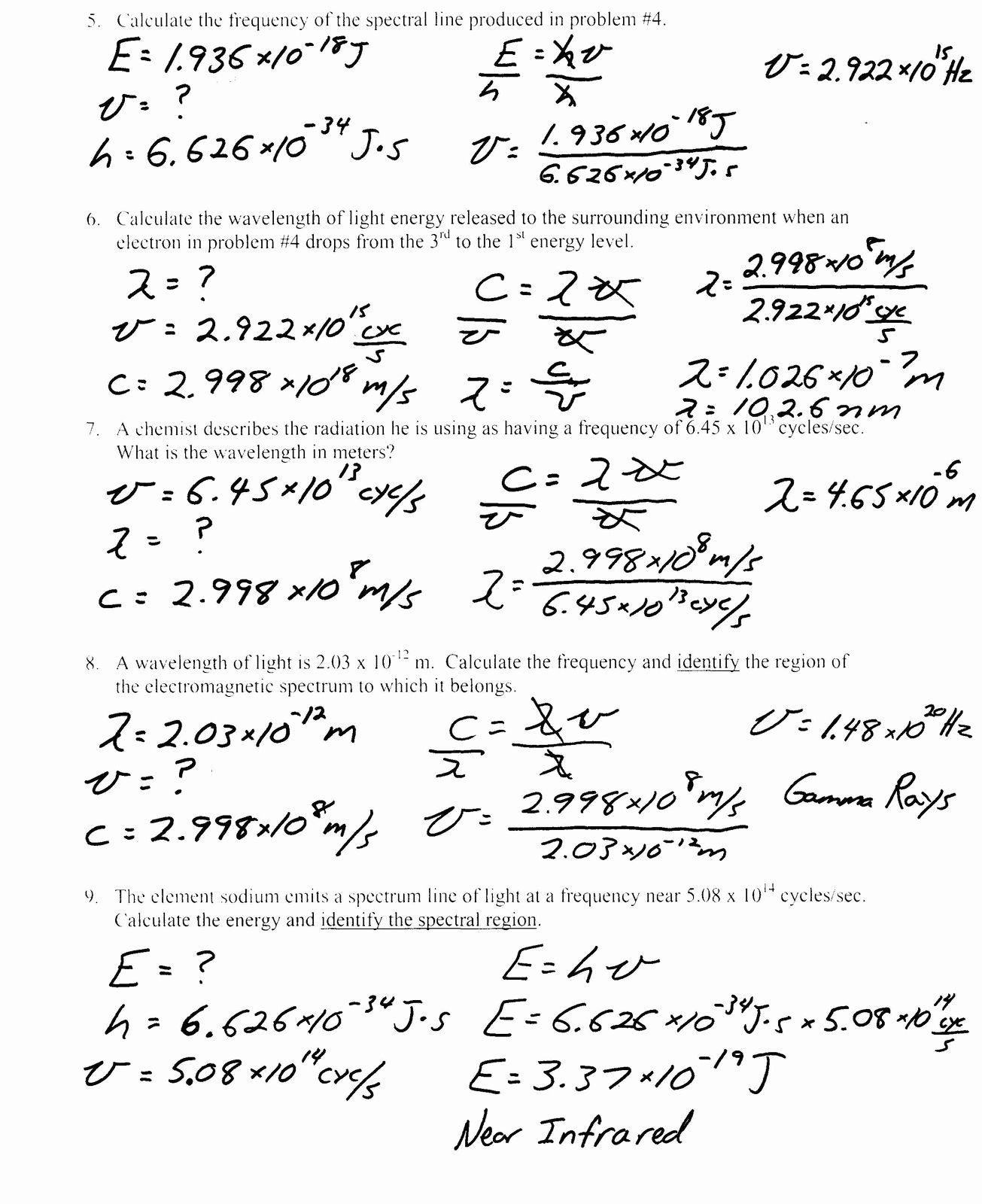 Combined Gas Law Worksheet Answer Key