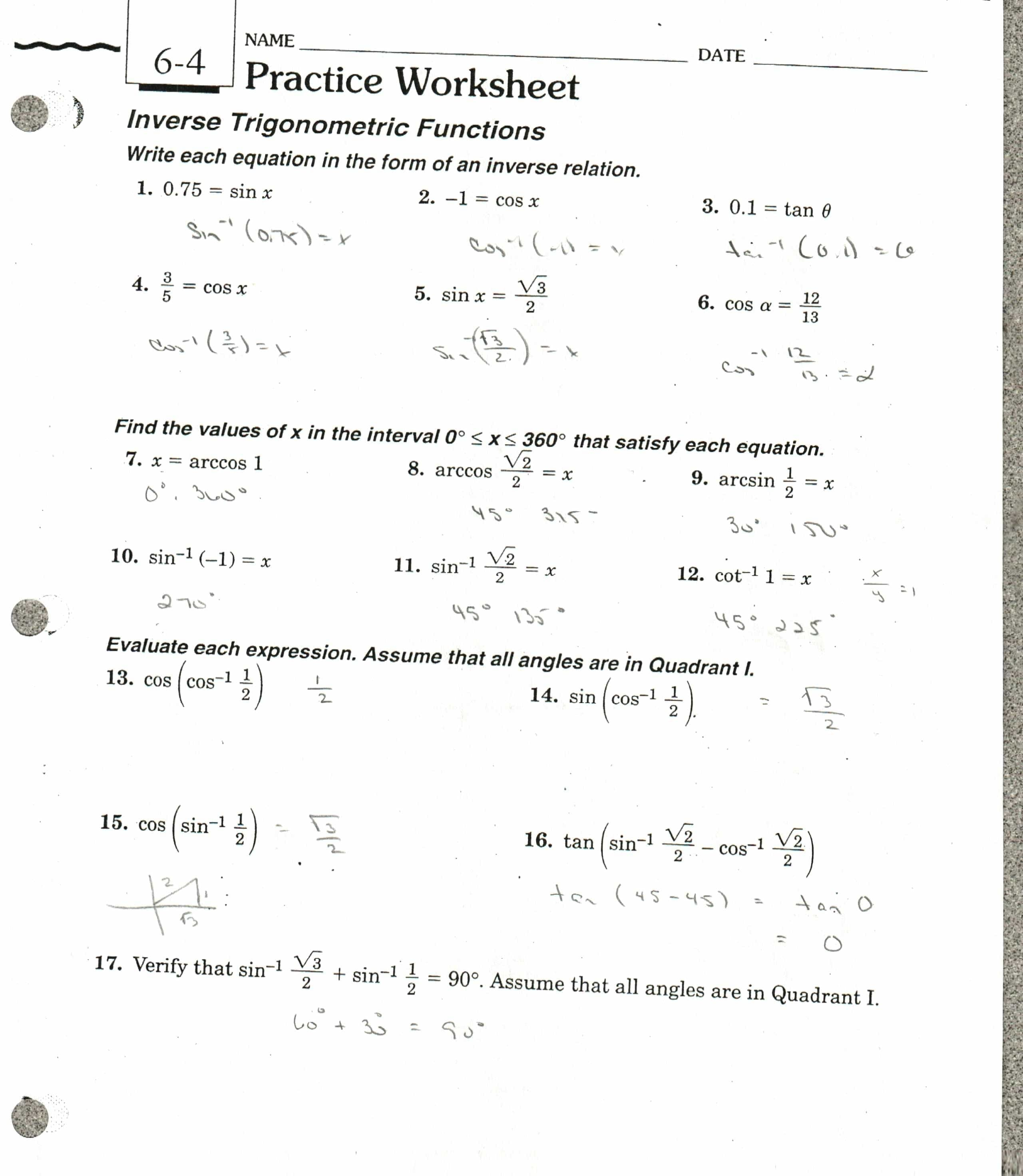 Comparing Functions Worksheet Practice Worksheet