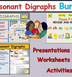 Consonant Digraph Worksheet   Printable Worksheets and Activities for  Teachers [ 1200 x 1599 Pixel ]