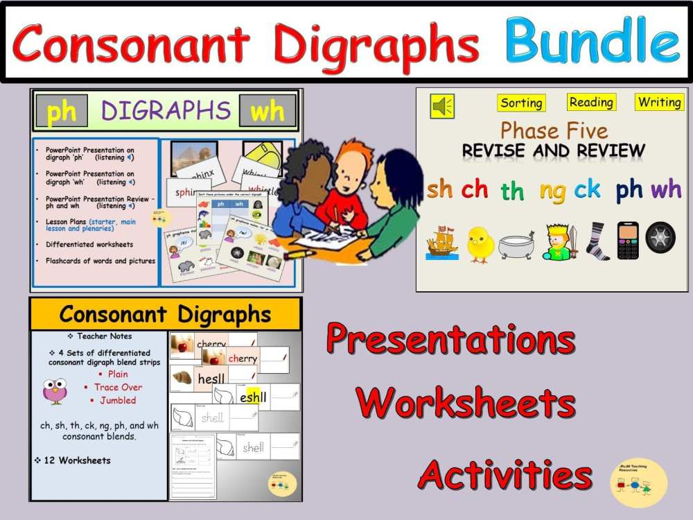 medium resolution of Consonant Digraph Worksheet   Printable Worksheets and Activities for  Teachers