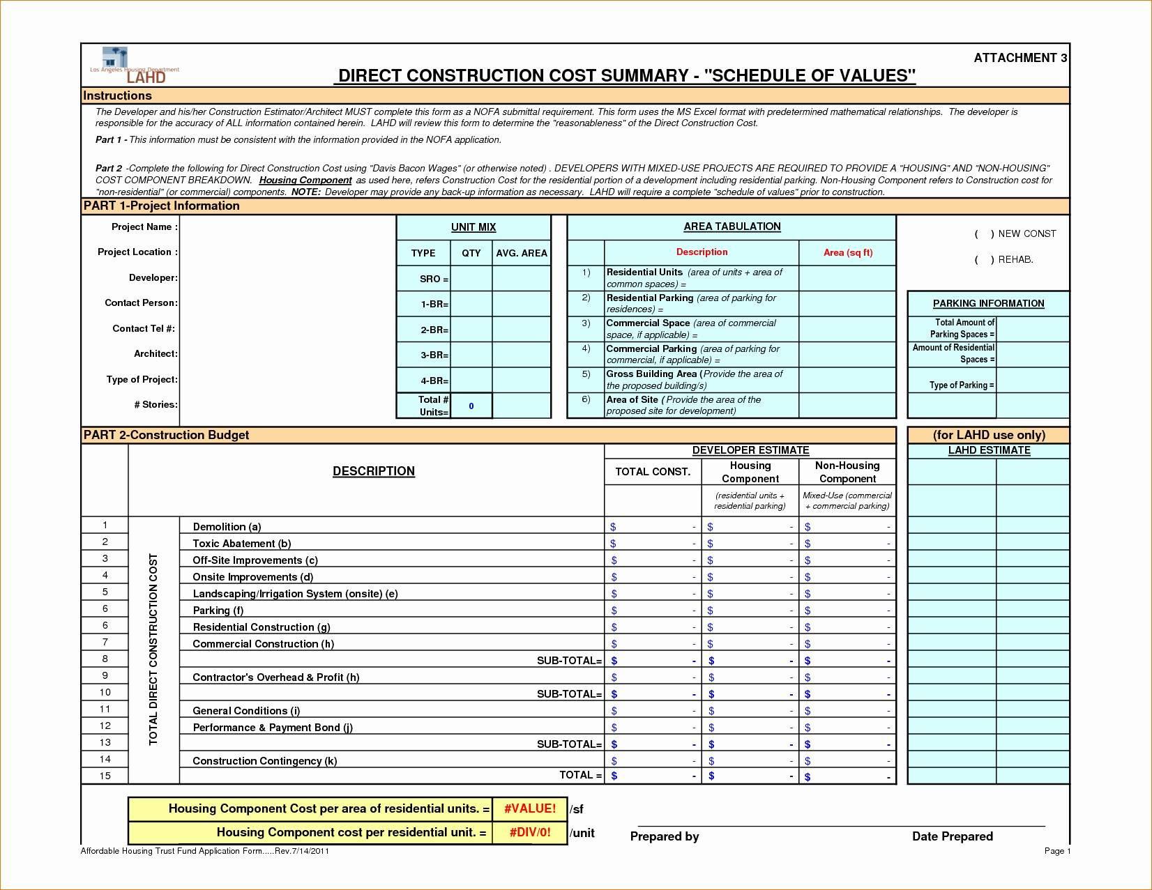 Construction Estimating Worksheets