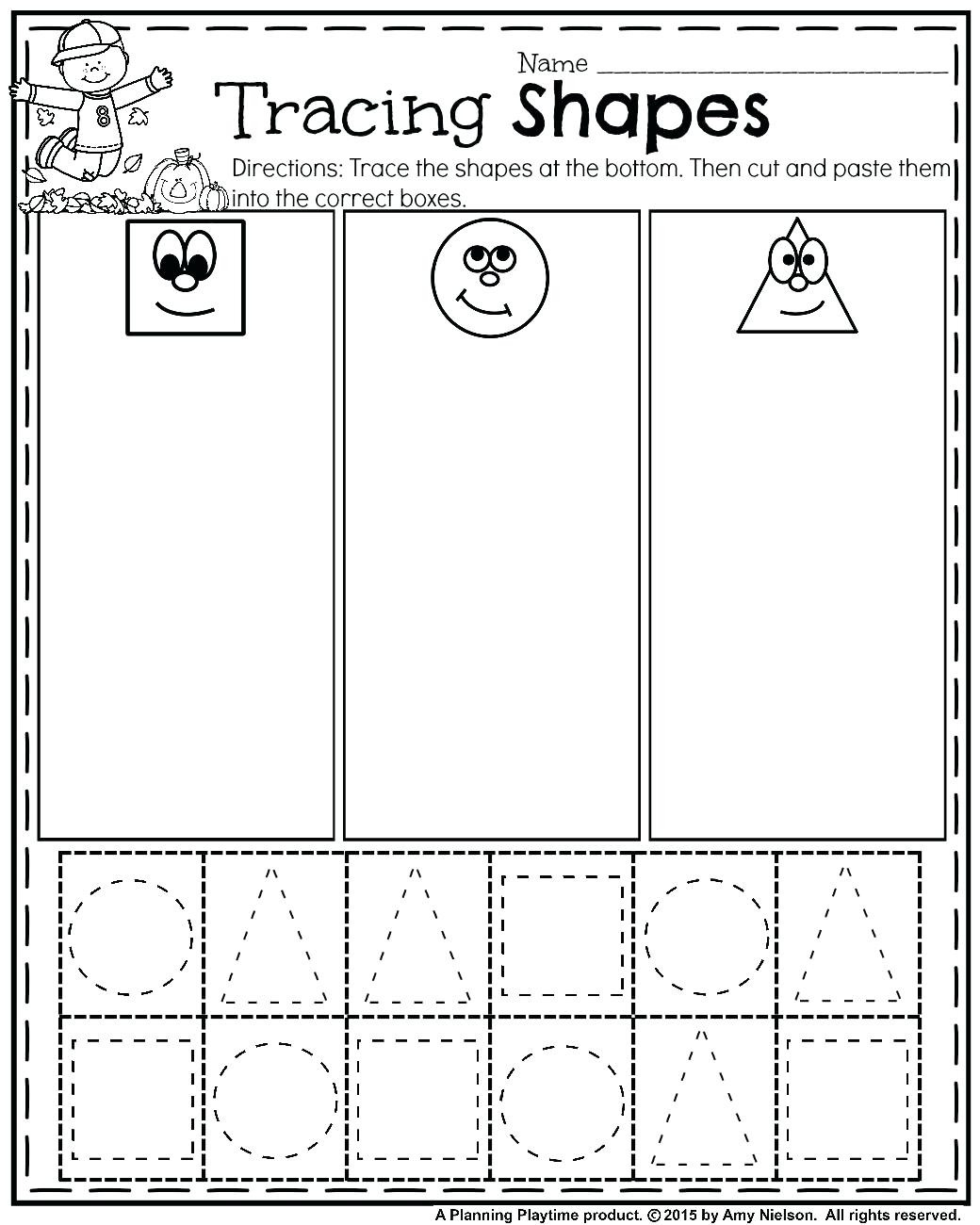 Cut And Paste Worksheets For Preschoolers Fall Preschool