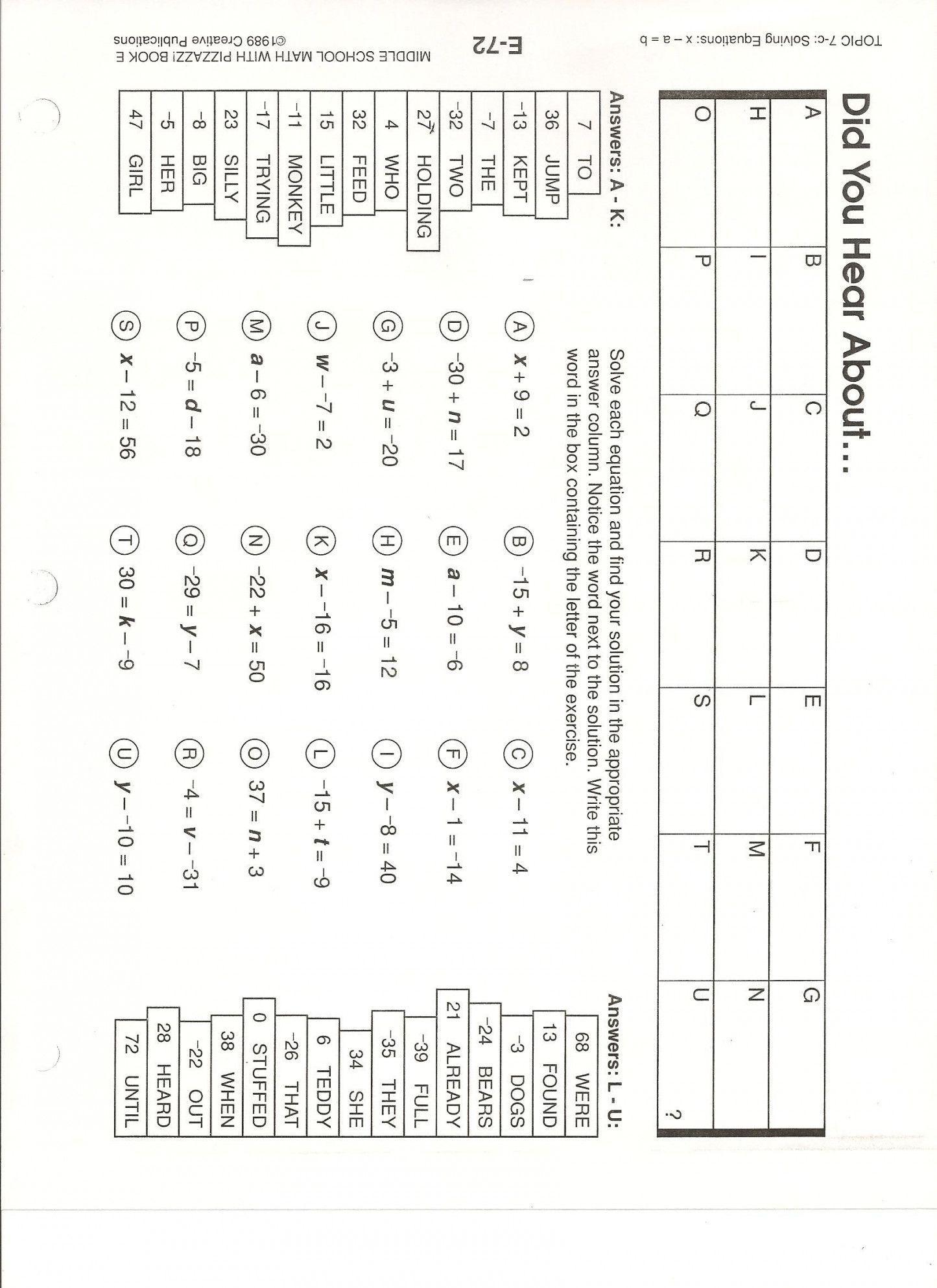 Did You Hear About Algebra Worksheet Db Excel