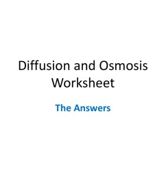 Is It Osmosis Or Diffusion Worksheet   Printable Worksheets and Activities  for Teachers [ 768 x 1024 Pixel ]
