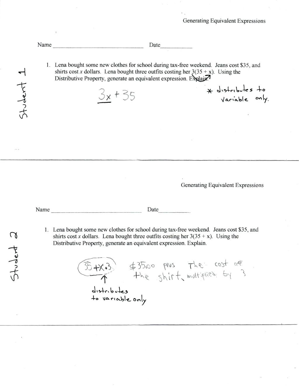 Distributive Property Practice Worksheet