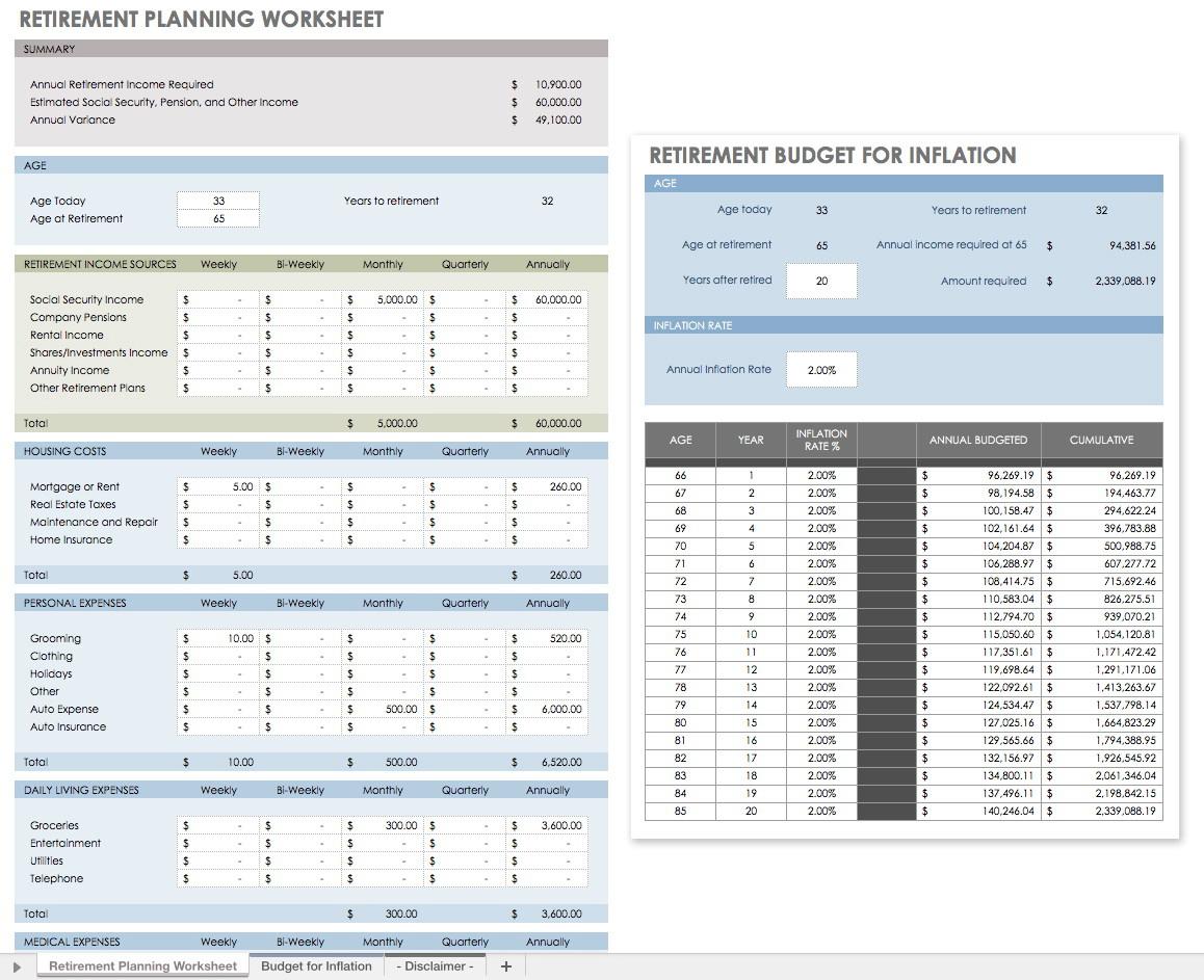 Divorce Financial Planning Worksheet Universal Network