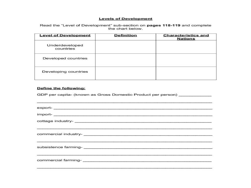 High School Economics Worksheets Db Excel