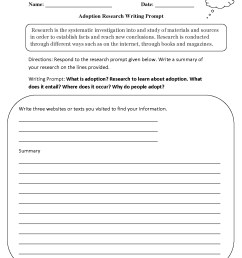 Writing Prompts For Kids Worksheets   Printable Worksheets and Activities  for Teachers [ 1650 x 1275 Pixel ]