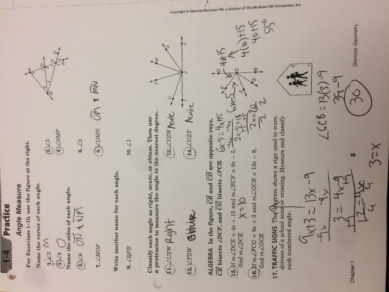 3 2 Practice Angles And Parallel Lines Worksheet Answers