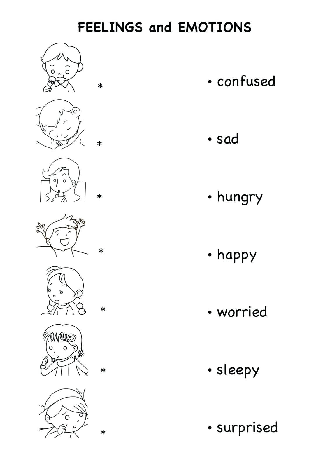 Feelings And Emotions Worksheets Db Excel