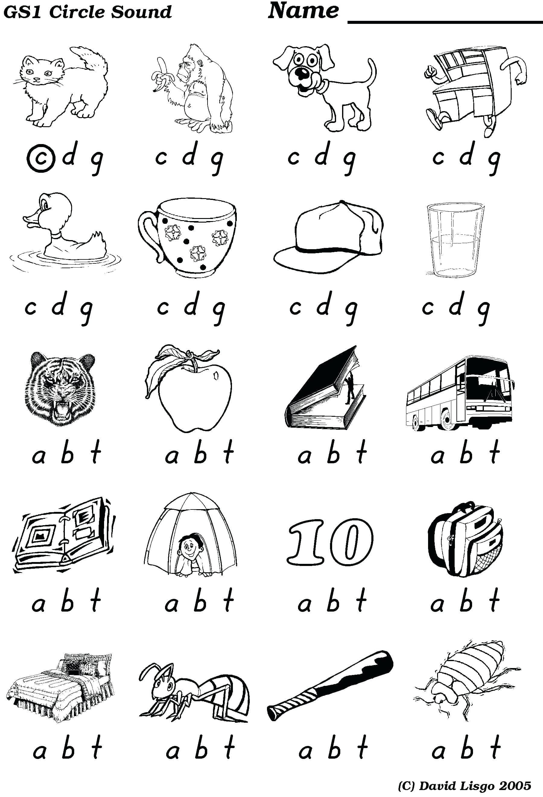 Final Consonant Sounds Worksheets