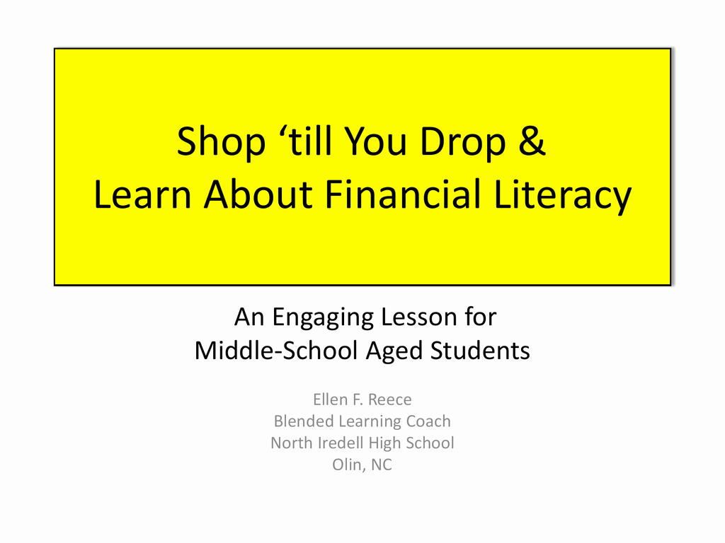 Financial Literacy Worksheets For High School Awesome