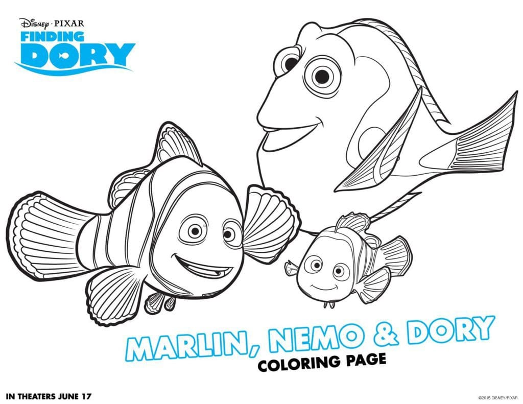 Finding Dory Printable Educational Worksheets And