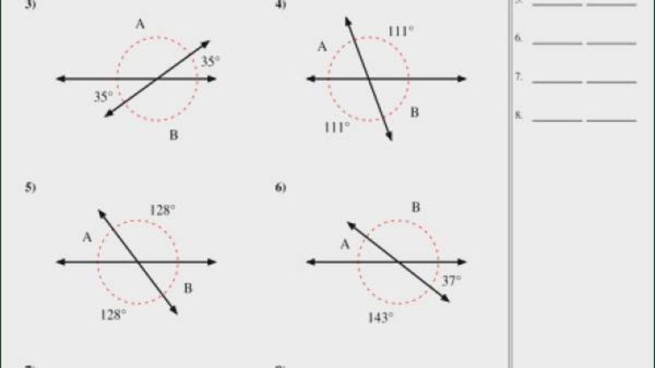 Finding Missing Angles Worksheet Winonarasheed — db-excel.com