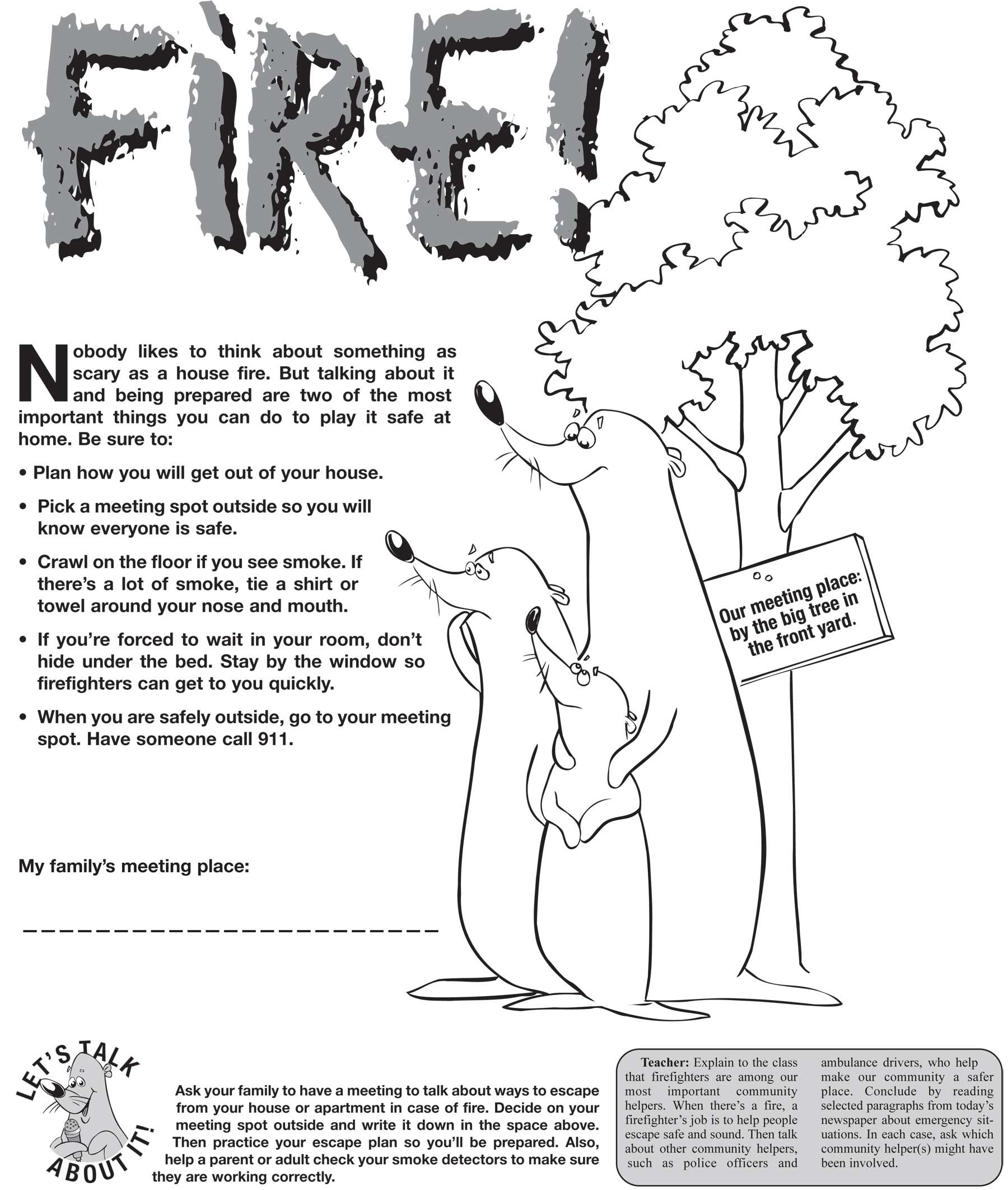 Fire Safety Worksheets Db Excel