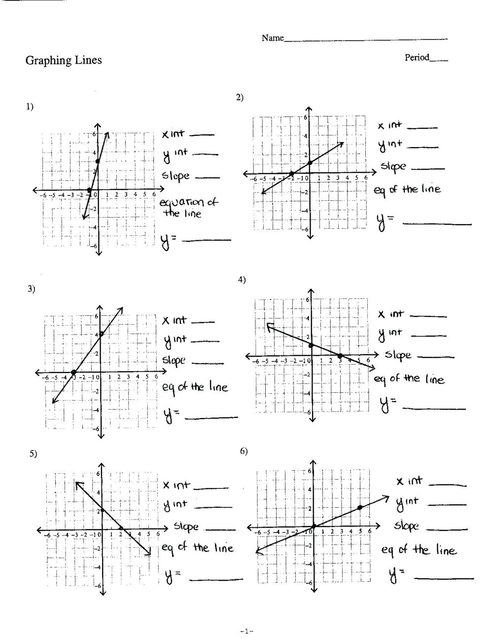 medium resolution of Graphing Linear Equations Worksheet Free   Printable Worksheets and  Activities for Teachers