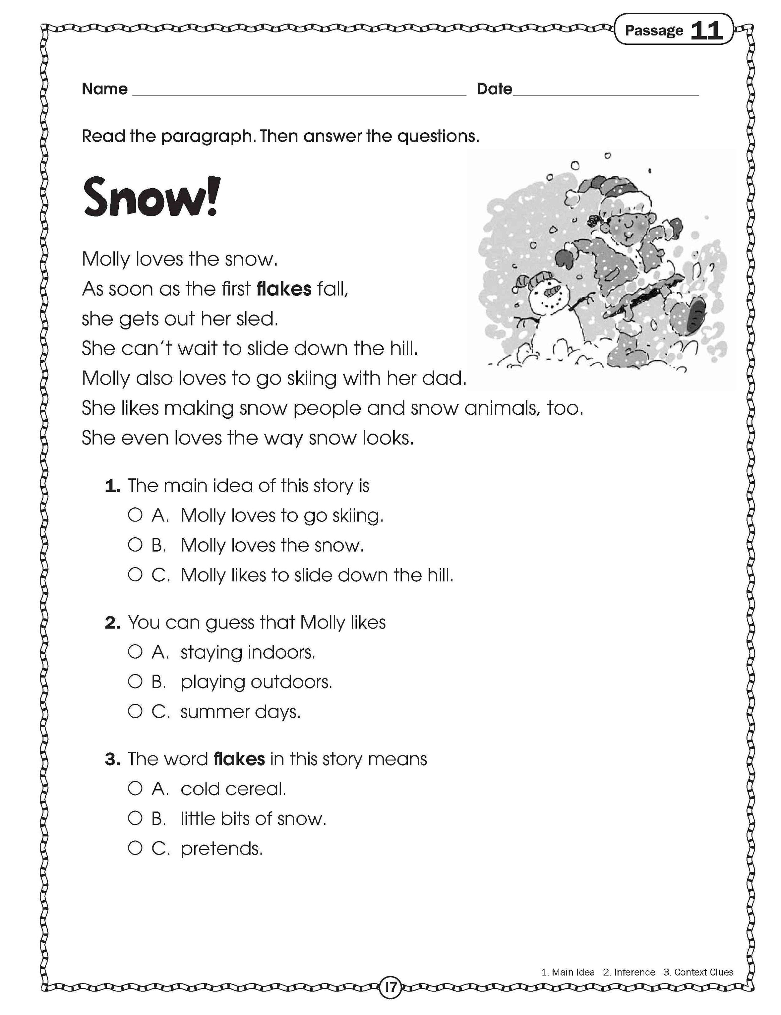Free Handouts Reading Learning Printable Kids Worksheets