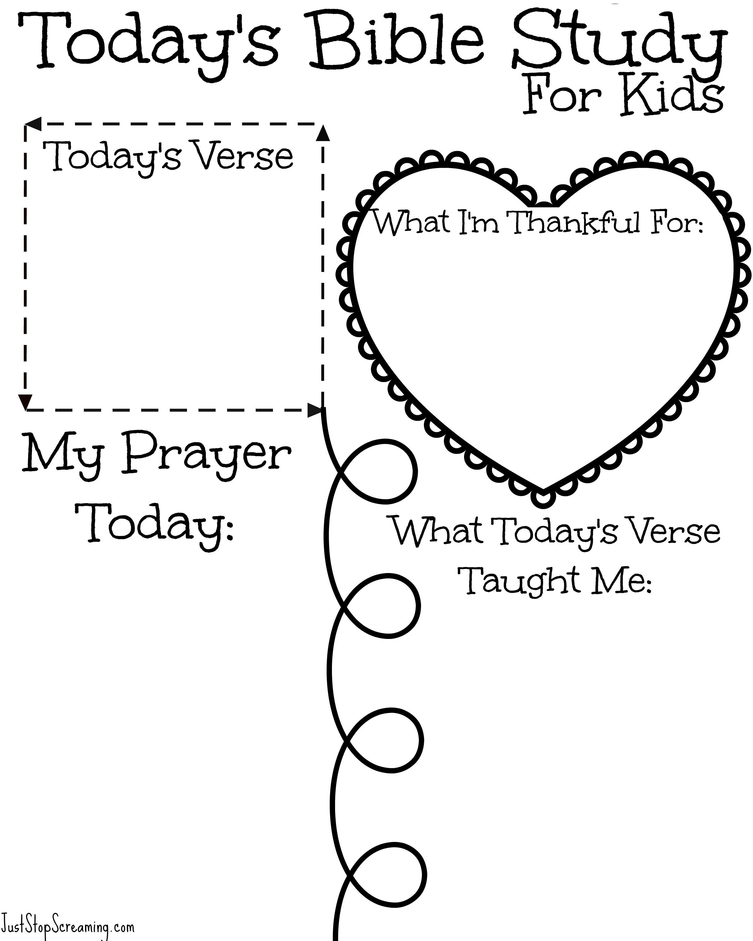 Youth Bible Study Worksheets