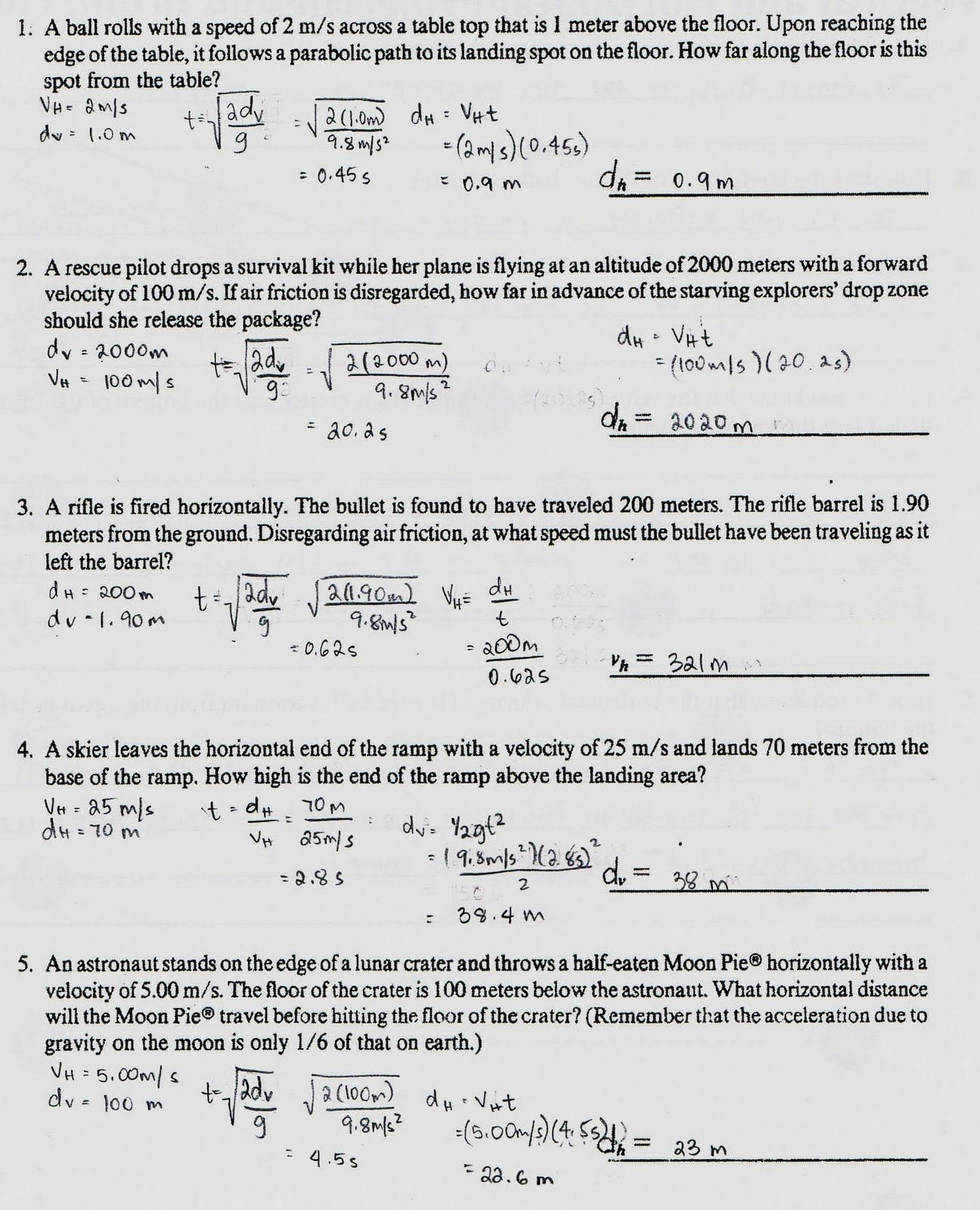 Worksheet On Mass And Gravity