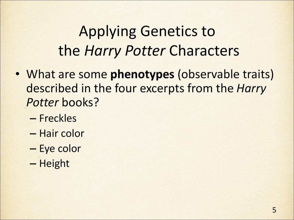 Genetics In Harry Potter S World Lesson 1 Ppt Download