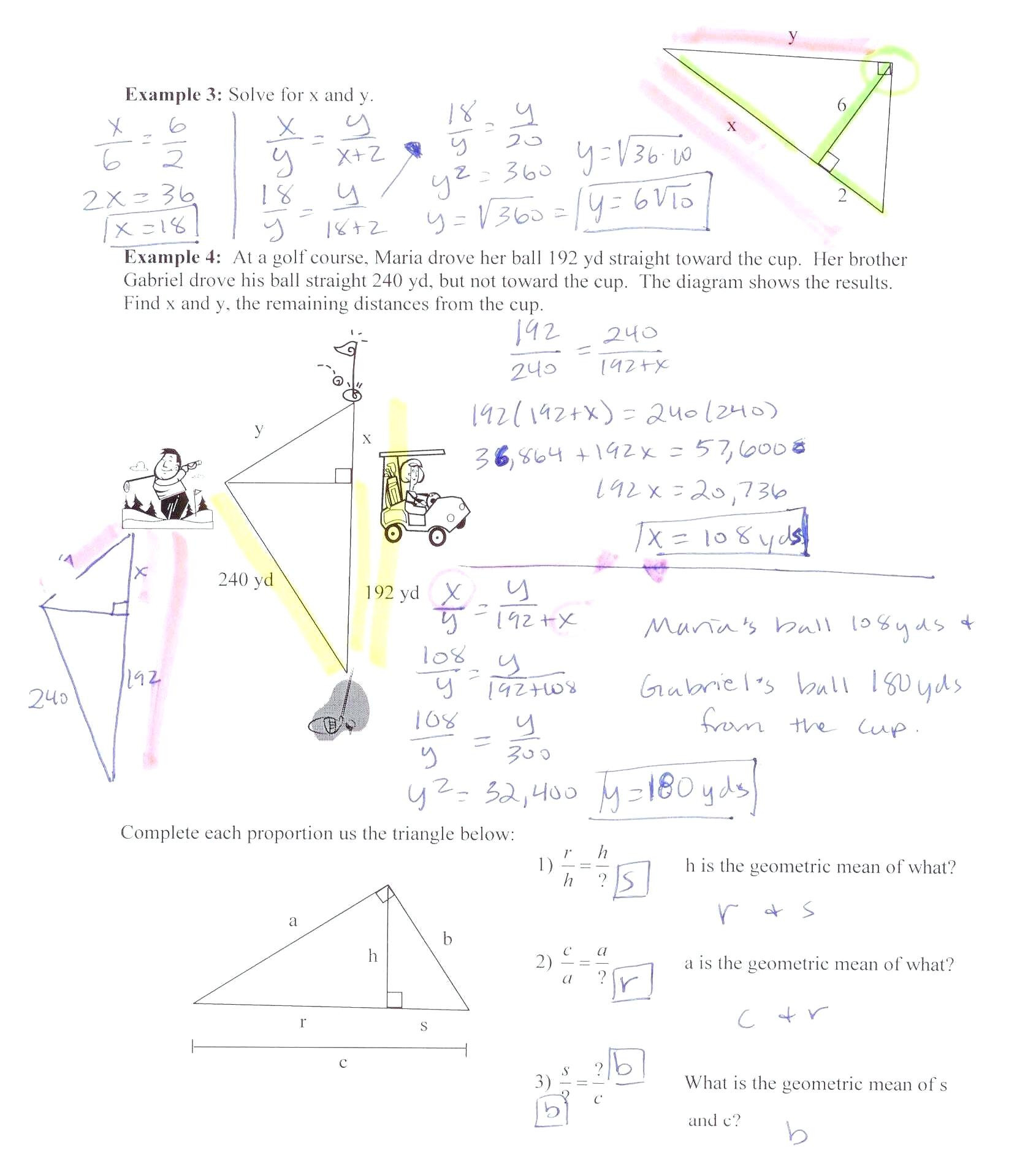 Geometric Proportions Worksheet Math Ratio And Proportion