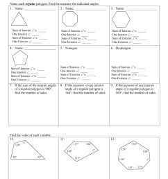 Names Shapes And Polygons Worksheets   Printable Worksheets and Activities  for Teachers [ 1651 x 1275 Pixel ]