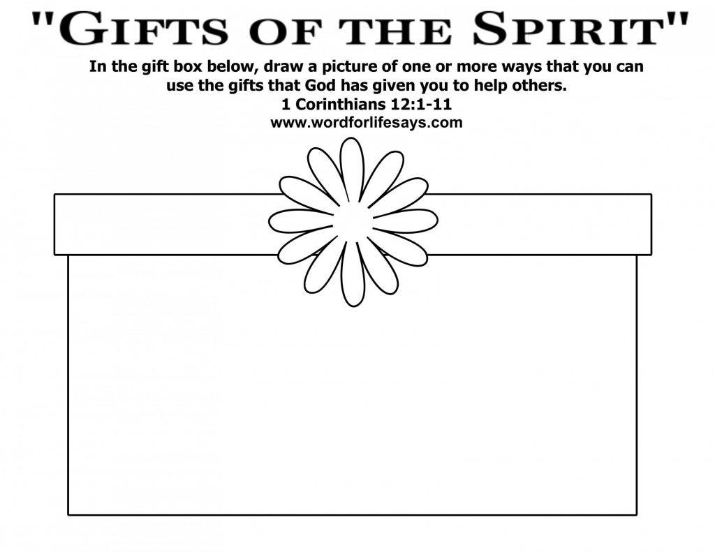 Ts Of The Holy Spirit Worksheet