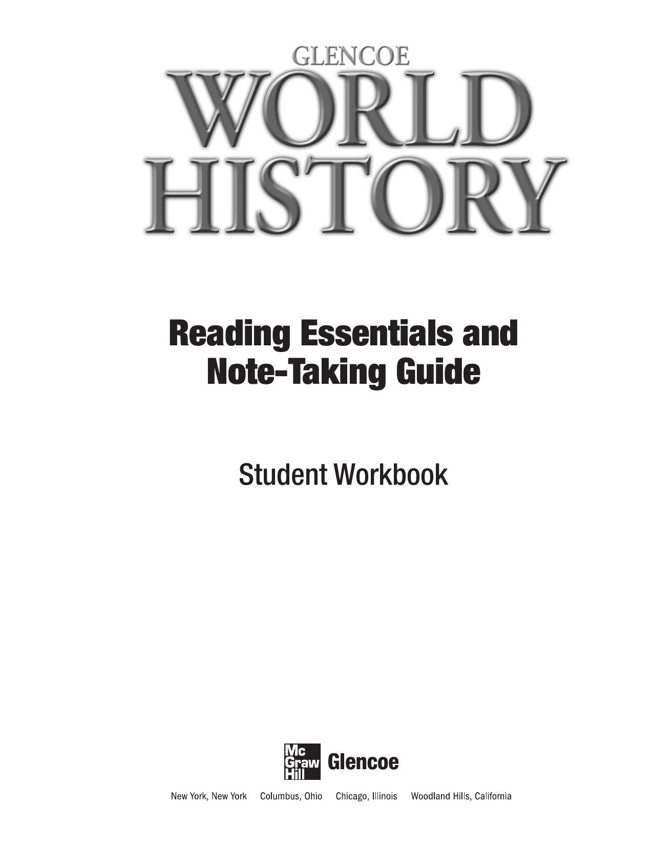 World History Worksheets