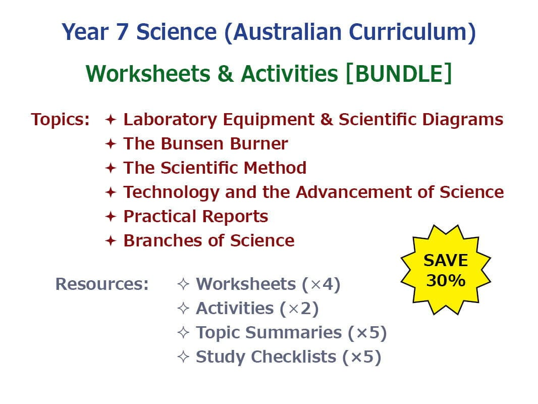 Introduction To Science Worksheets Activities Bundle