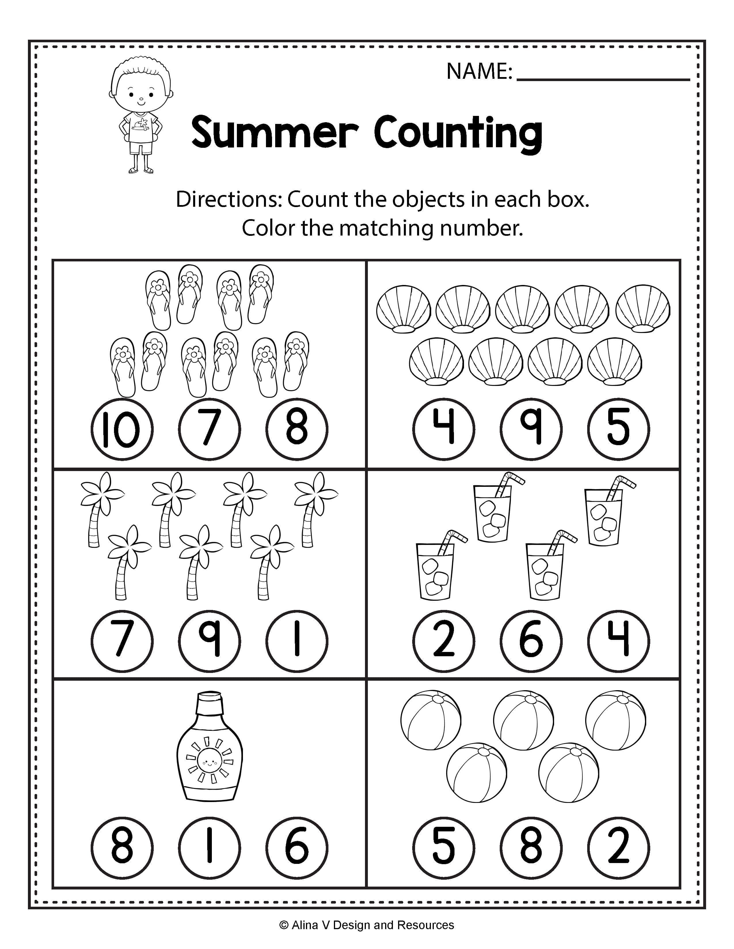 Kindergarten Preschool Kindergarten Worksheets Addition