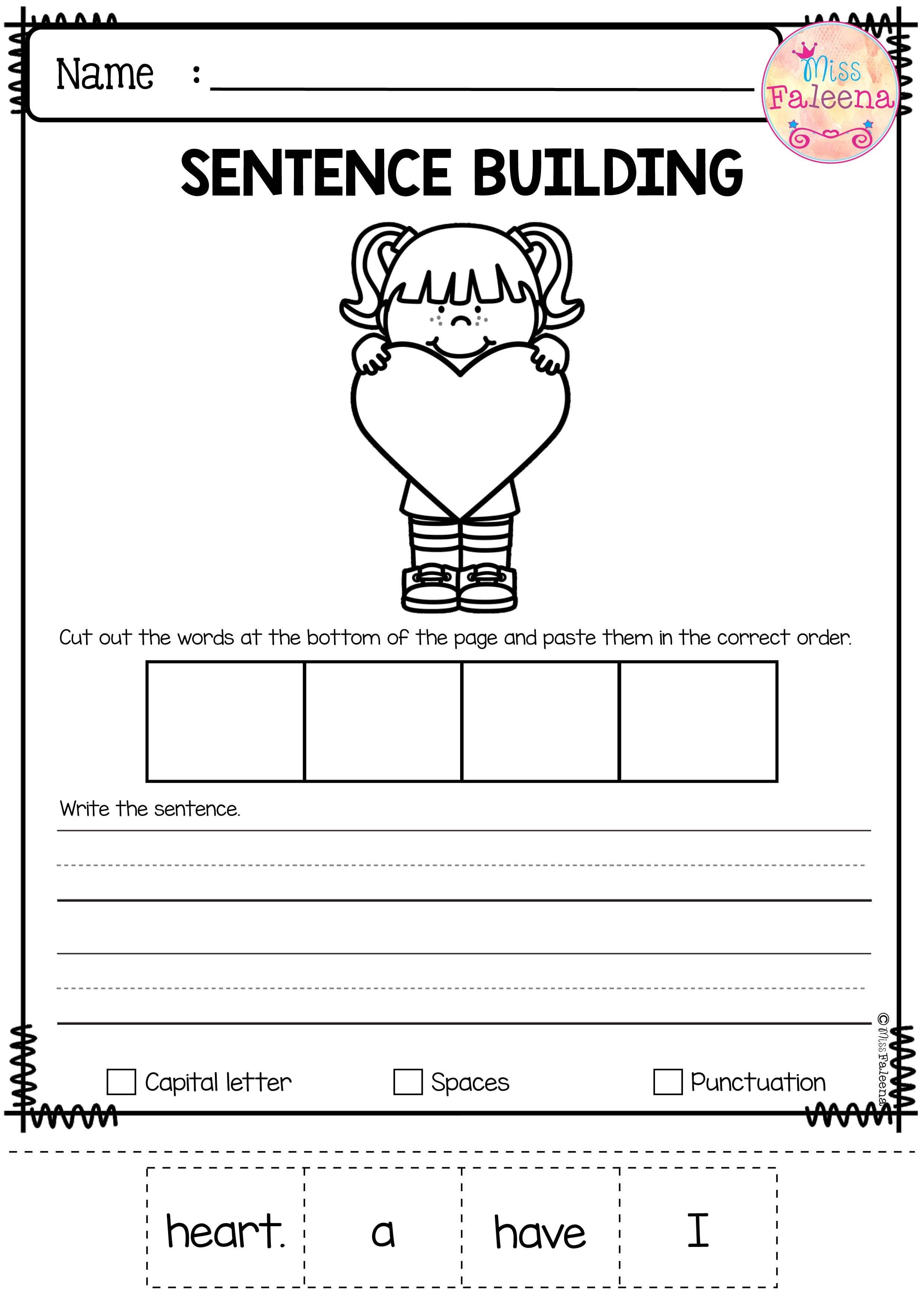Position Worksheets Kindergarten