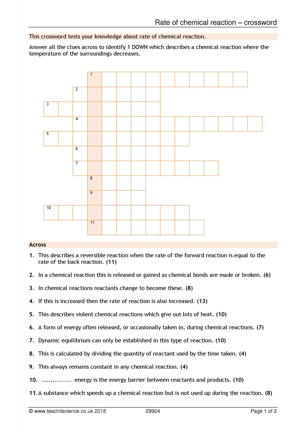 Worksheet 3 Balancing Equations And Identifying Types Of