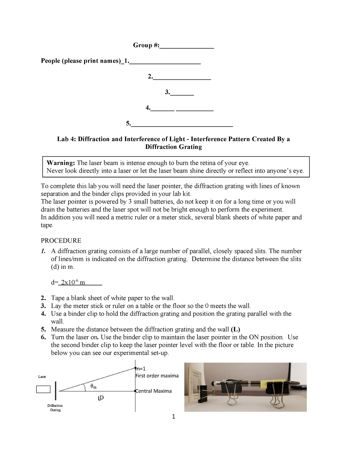 Lab 4 Worksheet 41 Lab Assignment From The Online Course