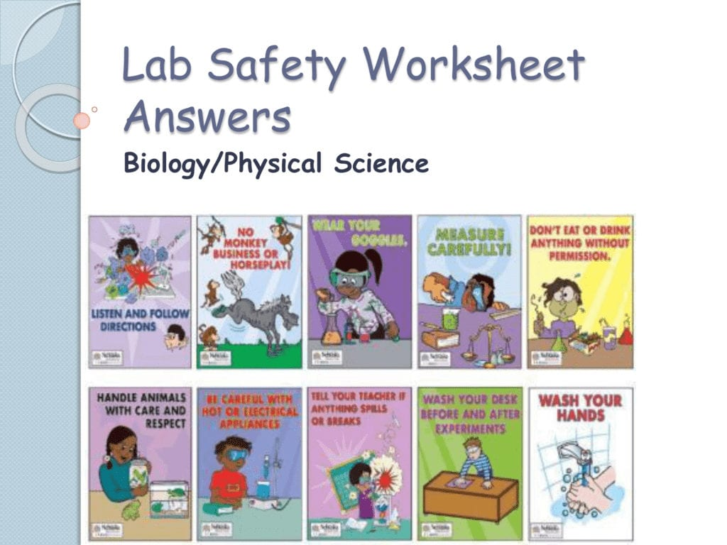 Science Lab Safety Worksheet