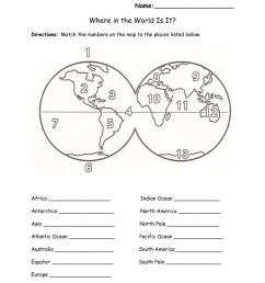 3rd Grade Longitude And Latitude Worksheets   Printable Worksheets and  Activities for Teachers [ 1650 x 1275 Pixel ]