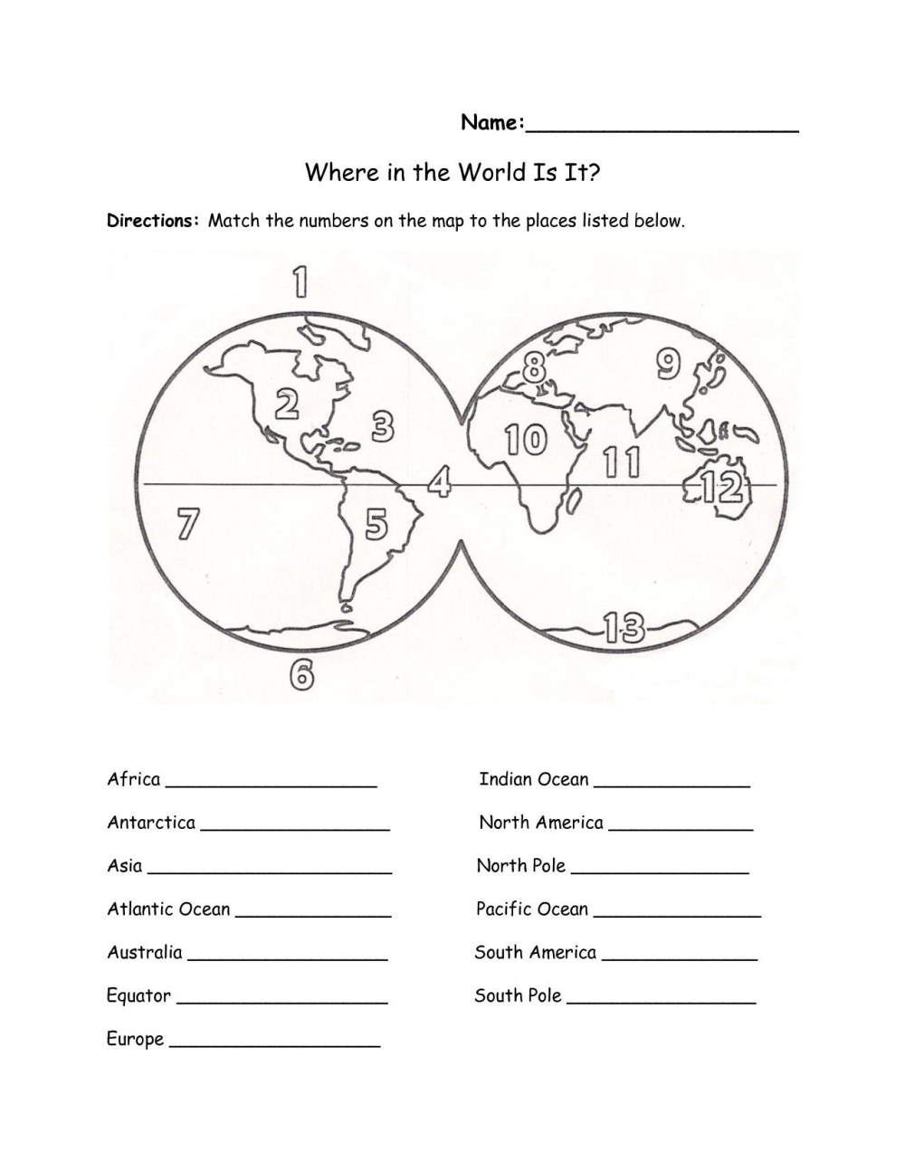 medium resolution of 3rd Grade Longitude And Latitude Worksheets   Printable Worksheets and  Activities for Teachers