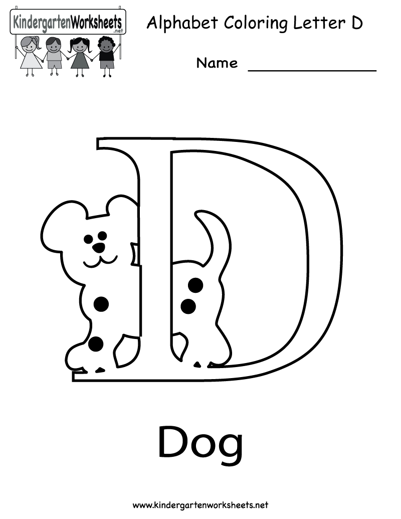 Letter D Preschool Worksheets To Download Free Math — db