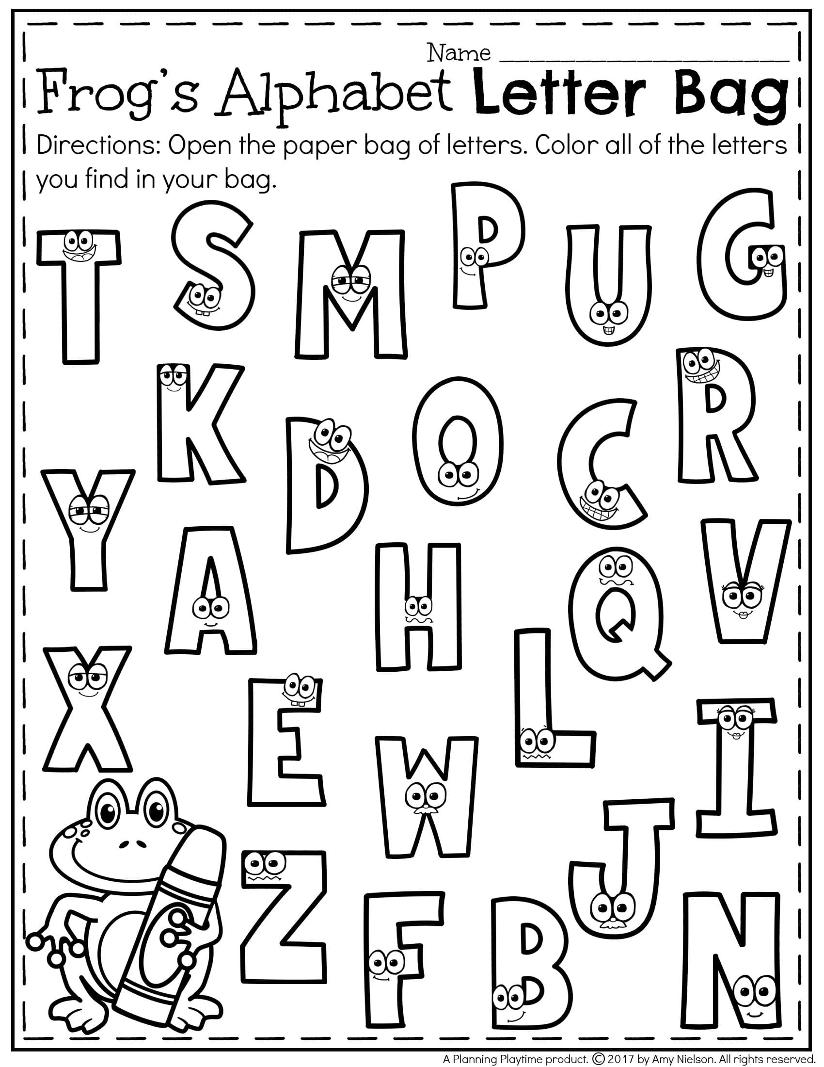 Preschool Letter Recognition Worksheets