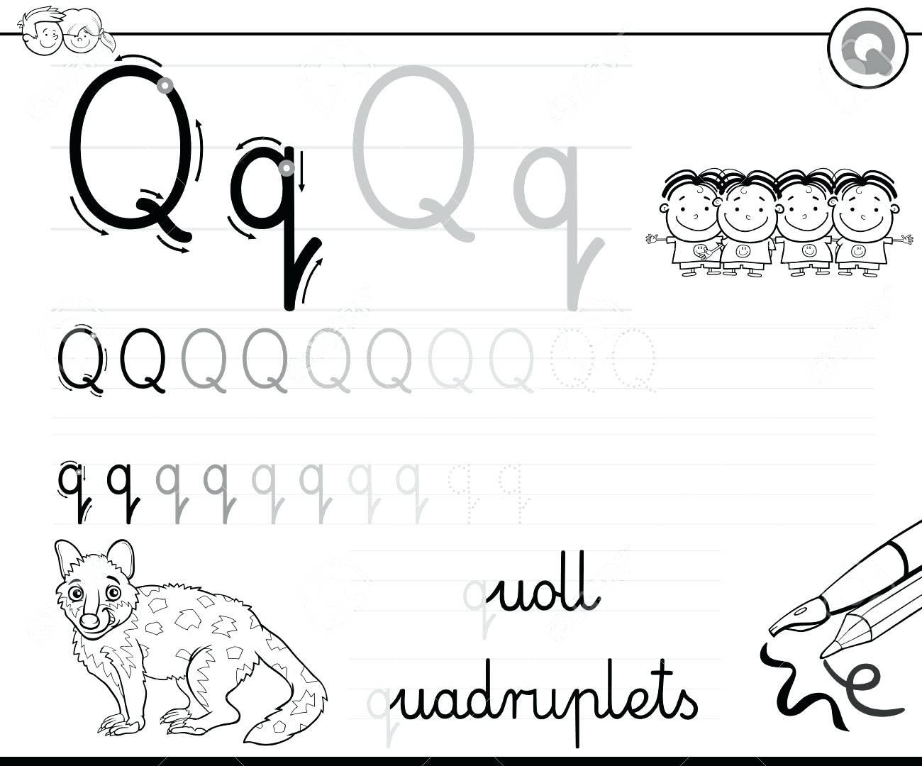 Letter Recognition Worksheets Pre K Math