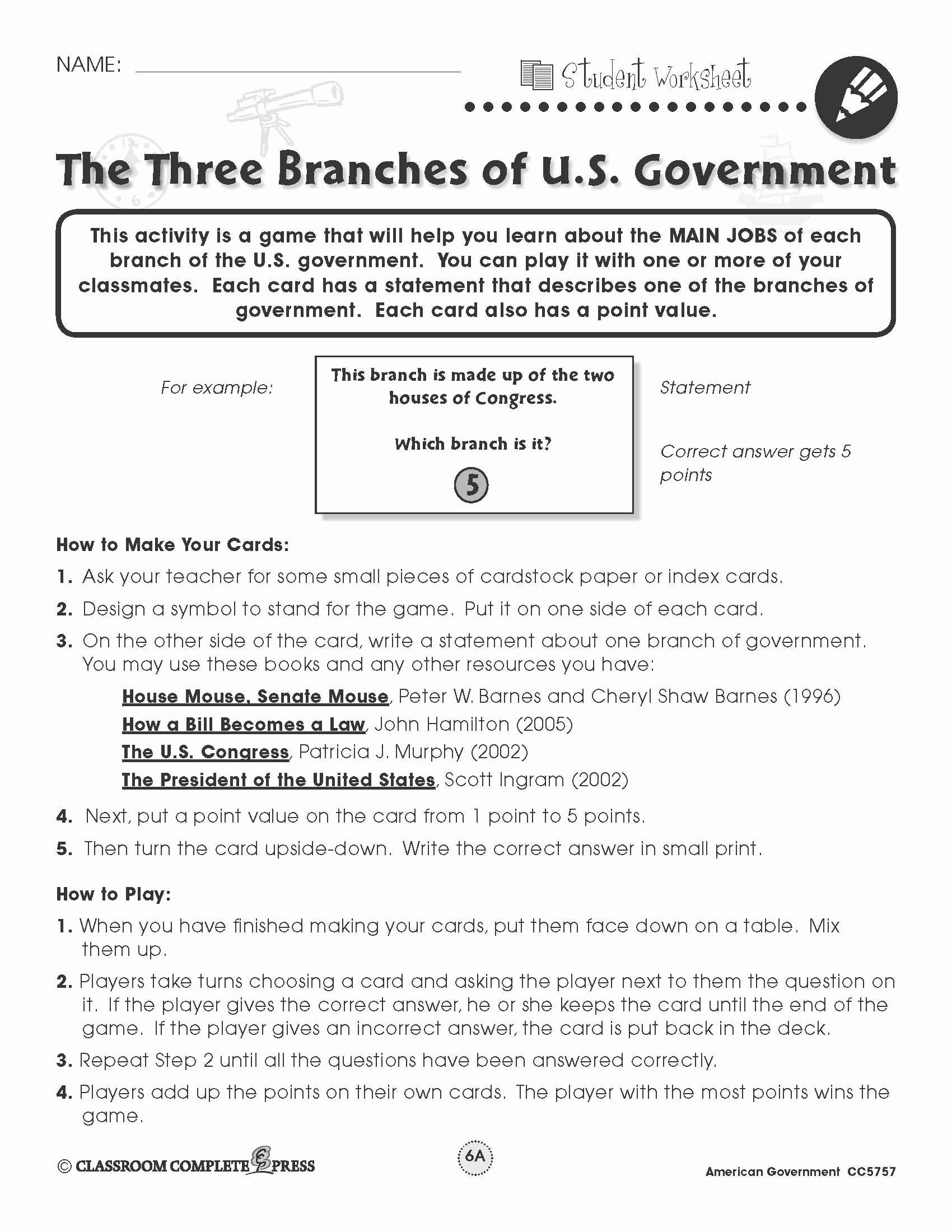 Limiting Ernment Icivics Worksheet Answer Key